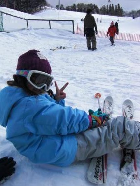 次女スキー