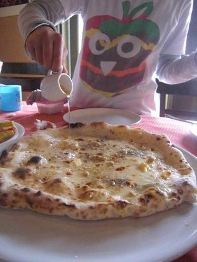 初体験ピザ