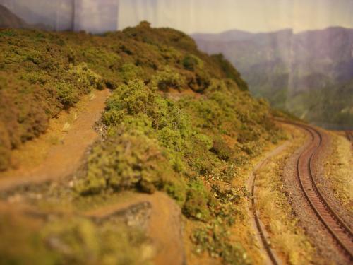 Nゲージレイアウト 山線スイッチバック6