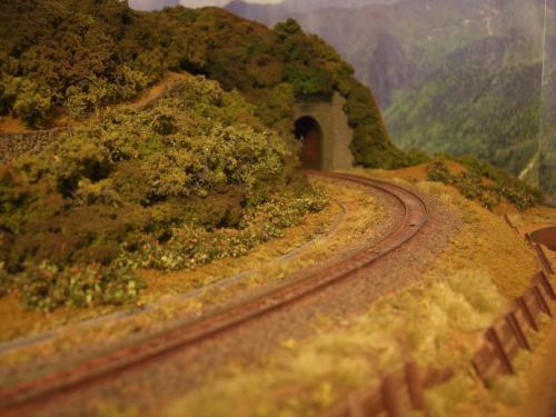 Nゲージレイアウト 山線スイッチバック 5