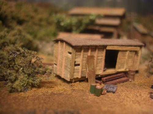 Nゲージレイアウト 木造貨車のストラクチャー 2