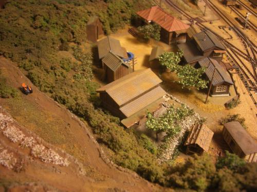 Nゲージレイアウト 古民家と石垣 3