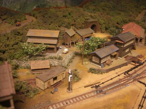 Nゲージレイアウト 古民家と石垣 4