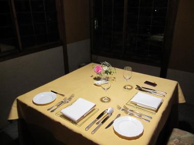 二人のテーブル