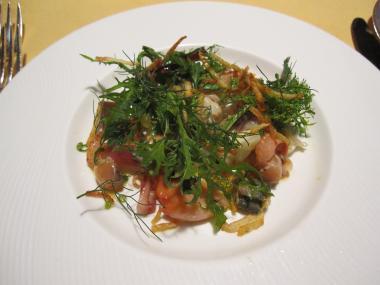 貝のサラダ