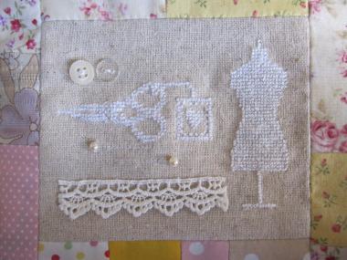 ミシンカバーの刺繍