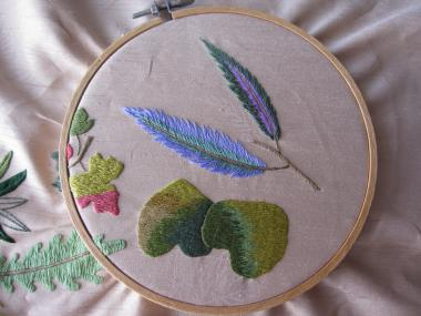 秋の葉 2種