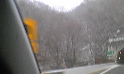 雪の中国道