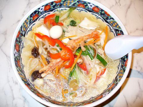 「あじさい」の味彩五目柳麺 塩味