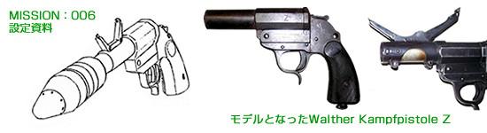 ナジカ電撃作戦 パンツァーカンプピストル / ワルサー2.7cmカンプピストルZ