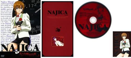 ナジカ電撃作戦 DVD Vol.1 ジャケット/リーフレット/DISCレーベル/ミッションキャラカード