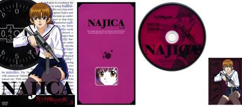 ナジカ電撃作戦 DVD Vol.3 ジャケット/リーフレット/DISCレーベル/ミッションキャラカード