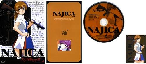 ナジカ電撃作戦 DVD Vol.4 ジャケット/リーフレット/DISCレーベル/ミッションキャラカード