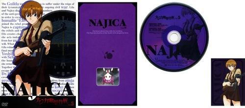 ナジカ電撃作戦 DVD Vol.5 ジャケット/リーフレット/DISCレーベル/ミッションキャラカード