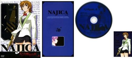 ナジカ電撃作戦 DVD Vol.6 ジャケット/リーフレット/DISCレーベル/ミッションキャラカード