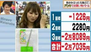 ランキング4位、渡辺美奈代