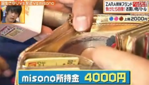 misonoの財布の中身