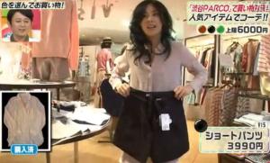 井森美幸、VIS、黒のショートパンツ