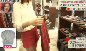 熊田曜子、Phantasien、赤のスカート