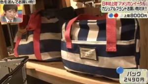 加藤夏希、青のバッグ