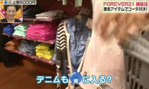 青のデニムシャツ