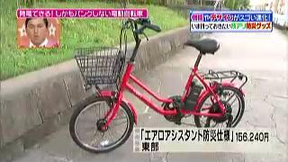 電動自転車エアロアシスタント防災使用