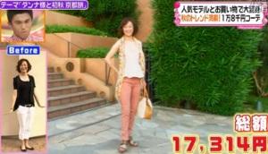 城ノ内早苗、ファッションコーディネートのテーマ「体型カバーも完璧!マイナス10歳コーデ」