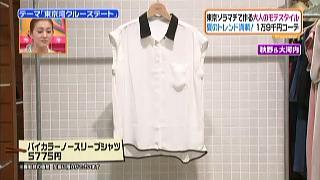 アーバンリサーチ、バイカラーノースリーブシャツ