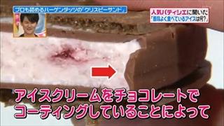 アイスクリームをチョコレートでコーティング