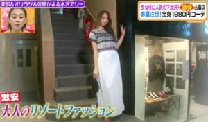 佐藤かよのテーマ「大人のリゾートファッション」