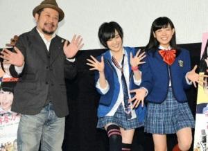 ケンドーコバヤシ、山本彩(NMB48)、渡辺美優紀(NMB48)