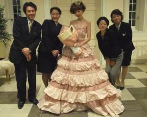 ほしのあきのウエディングドレス