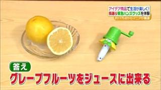 グレープフルーツをジュースに出来る