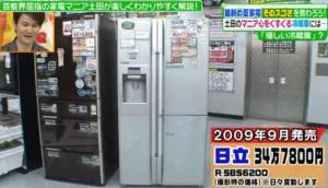 冷蔵庫(日立、タンク方式ディスペンサー)