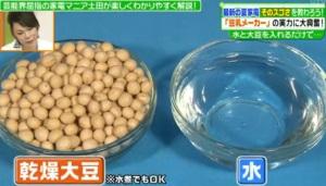 材料は、乾燥大豆と水