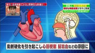 動脈硬化を引き起こし心筋梗塞、脳出血などの原因に