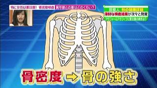 骨密度→骨の強さ