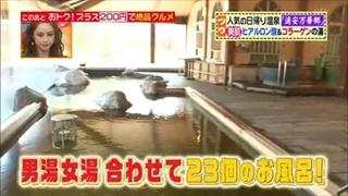 男湯、女湯合わせて23個のお風呂