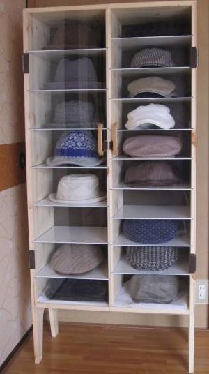 帽子専用の収納ケース