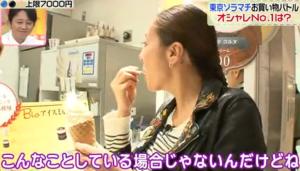 ソフトクリームを食べる、RICAKO
