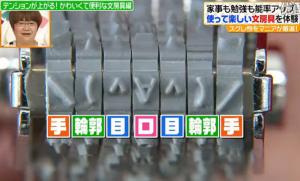 7列の文字盤