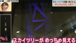 東京ソラマチから東京スカイツリーを見る、鈴木奈々