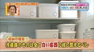 冷蔵庫の物は全て白い容器に移し替えるべし