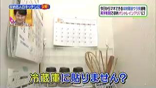 冷蔵庫にカレンダー等を貼りません?