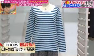 クルーネックTシャツ(青)
