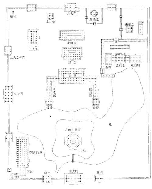 法勝寺伽藍図