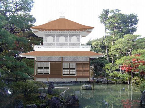 銀箔の銀閣寺