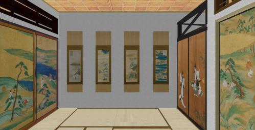冷泉家室内(中の間3)