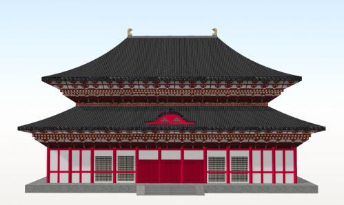 方広寺大仏殿正面図