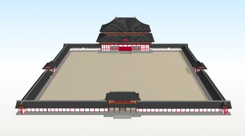 方広寺大仏殿正面全体図